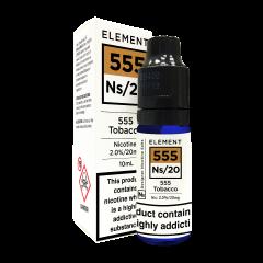 Elements Designer Nic Salts 555 Tobacco 10ml