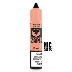 Zap Peach Ice Tea 10ml Nic Salt E-Liquid