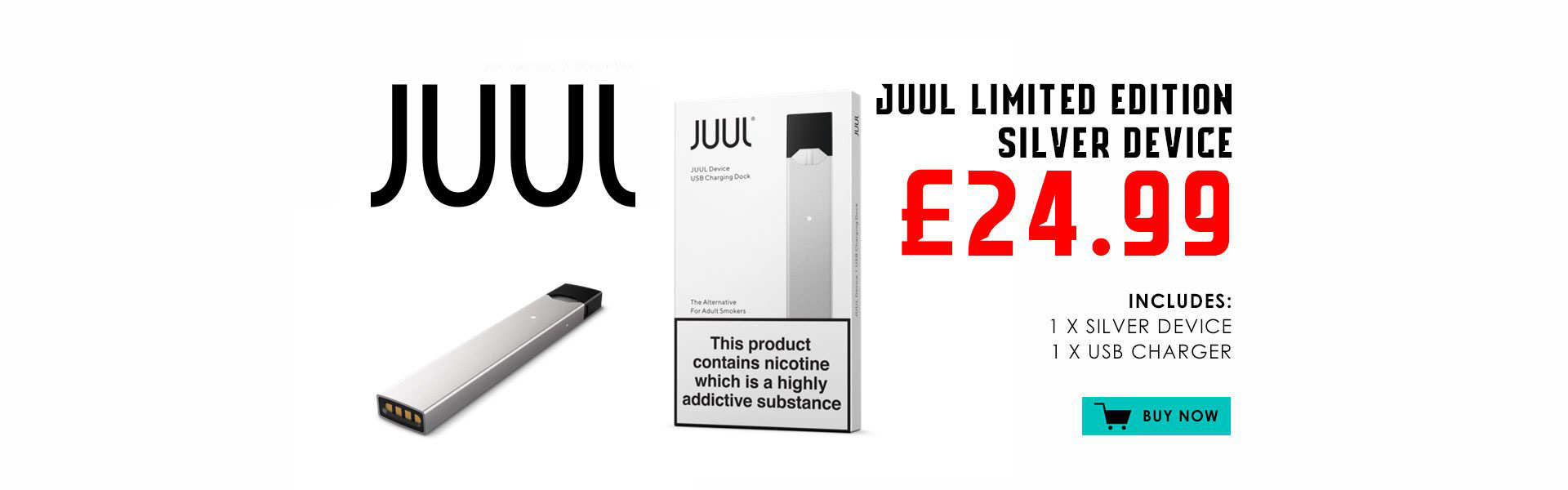 JUUL Silver Device Kit