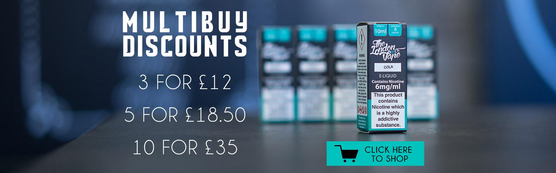 Bulk Discount Multi Buy Vape Co Liquids
